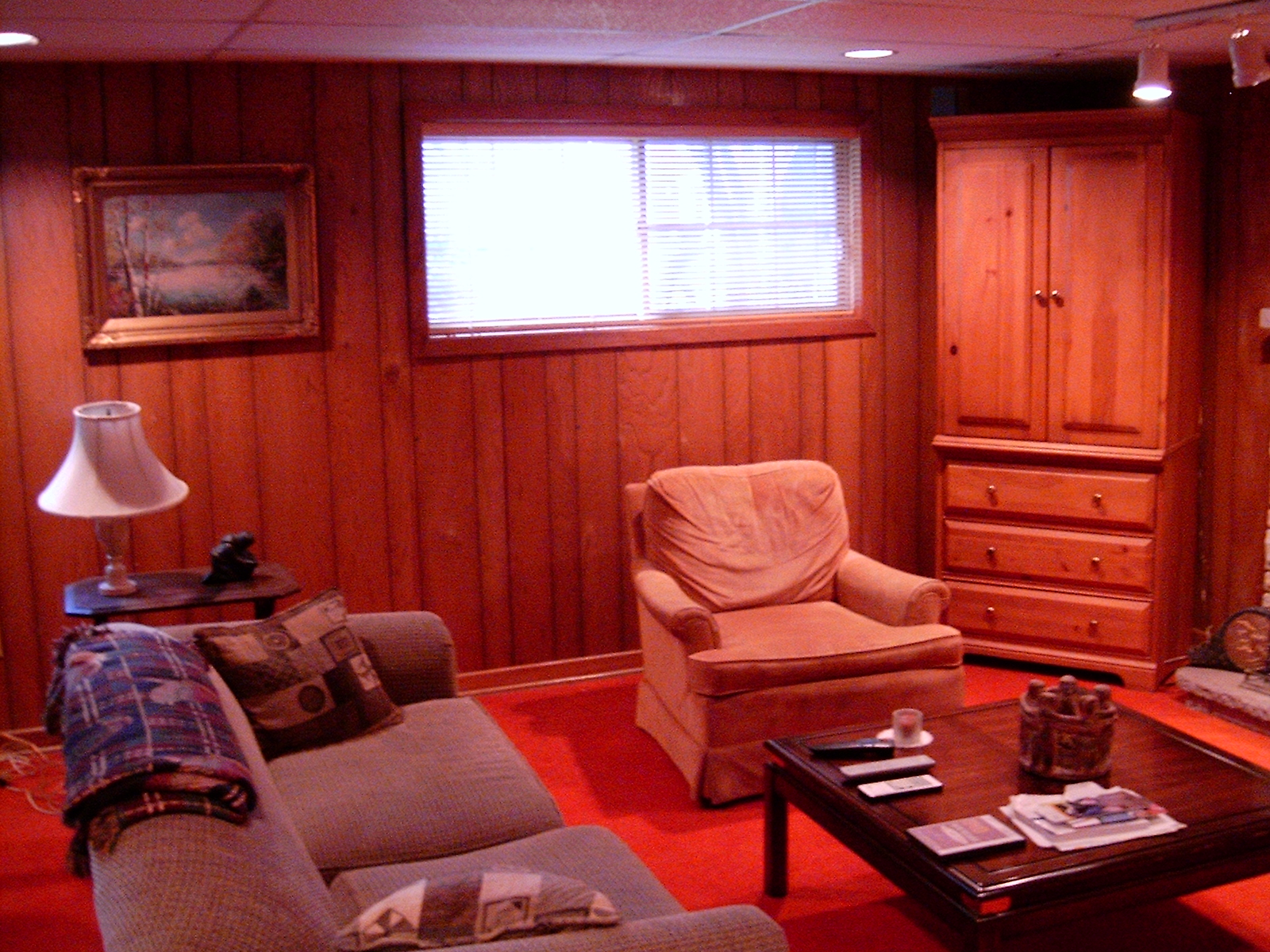 Design Tricks To Transform A Family Room With Wood Paneling Marie ...